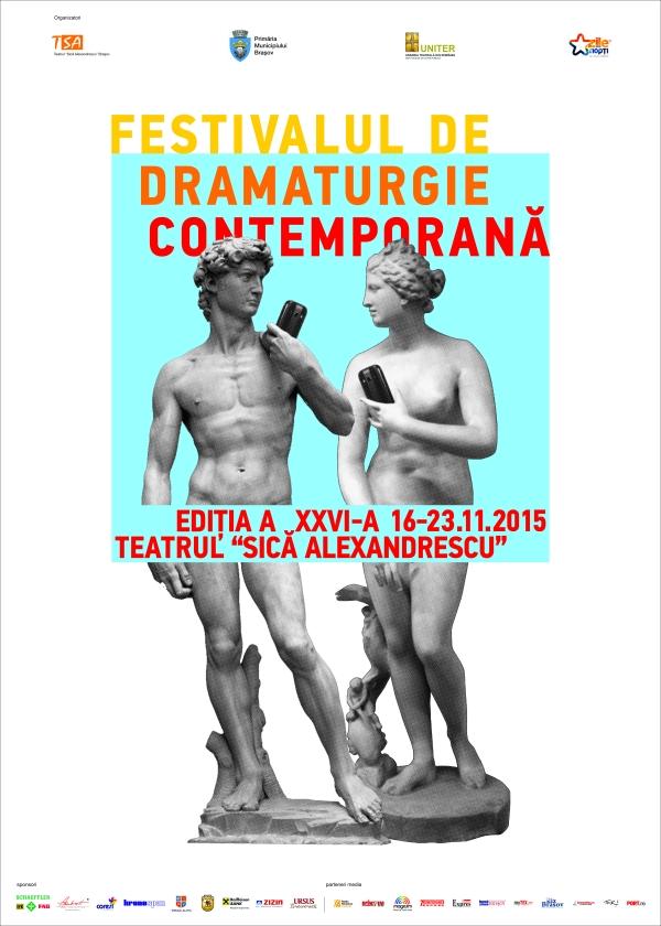 Festivalului de Dramaturgie Contemporană afis 2015